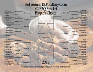 2017 KC BBQ Bracket Round 3 – Sweet 16 Voting